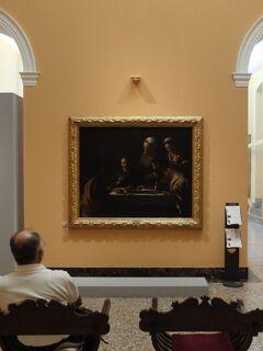 """初めてのミラノ その13 (イタリア・スペイン・ポルトガル・オランダ 12日間の旅 その1-13)""""ブレラ絵画館"""" 、カラヴァッジョの一枚!"""