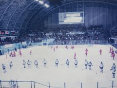 1998冬 長野オリンピック:アイスホッケー観戦、メダル授与を巨大モニターで鑑賞