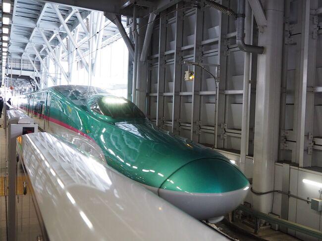 大阪まで飛行機で帰るはずが、大雪で全便欠航、青森に足止め。<br />まさか、その翌日まで欠航になってしまうとは…。<br />冬の東北には、こういう落とし穴があったか!<br /><br />全く考えていなかった新幹線移動。<br />ダイナミックパッケージで、JALが返してくれるお金はわずか、プラスでお金がかかりますが、会社員なのでそうそう休むわけにもいかず、仕方がありません。<br />GO TOで安く行けた分、まあ、良しとしましょう。<br />青森から東京を はやぶさで、東京から新大阪を のぞみで移動、ひたすら、ひたすらの新幹線旅です。