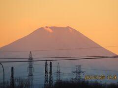 美しかった夕焼け富士