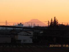 1/30素晴らしかった夕焼け富士