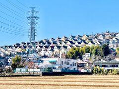 平塚市総合公園へ梅林見学 日向岡住宅街を眺めながら下吉沢の八剱神社へ