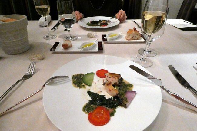 この日の夕食はエクシブ山中湖サンクチュアリビラ唯一のレストランの、イタリア料理リストランテ イルコローレで頂きます。<br /><br />僅か6部屋だけの全部個室のレストランでは、行き届いたサービスでワインと共に美味しい料理が楽しめます。<br />