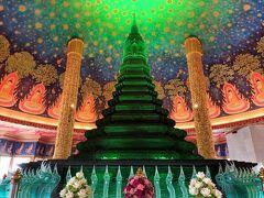 緑ガラス仏塔のあるワット・パクナム見学2021年2月