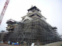 修復中の熊本城見学と「くまモン誕生祭」