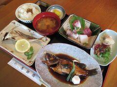 赤い日本酒「伊根満開」をGETし、舟屋群一望「与謝荘」で地魚尽くし膳「舟屋定食」でランチしました