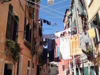 初めてのベネチア その25 (イタリア・スペイン・ポルトガル・オランダ 12日間の旅 その2-25)洗濯物乾かし放題、これぞ南欧イタリア!