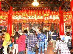 旧正月の寺廟初詣(初三、台北市松山)