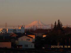 素晴らしかった朝焼け富士