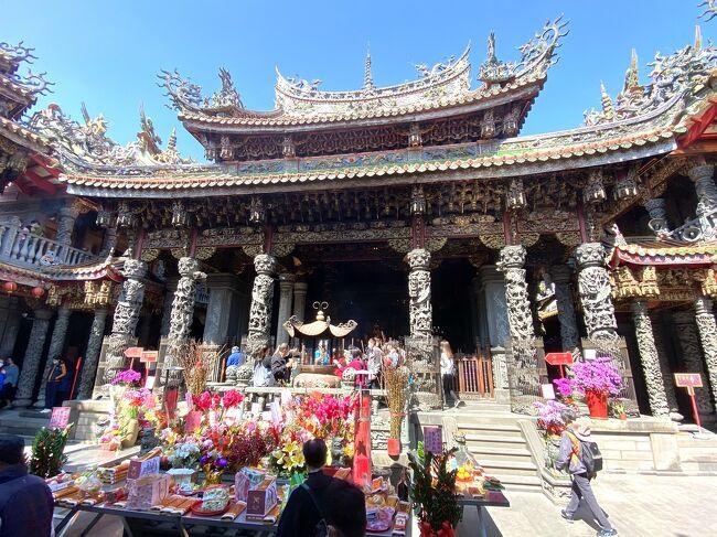 旧正月の寺廟初詣(初四、新北市三峽)