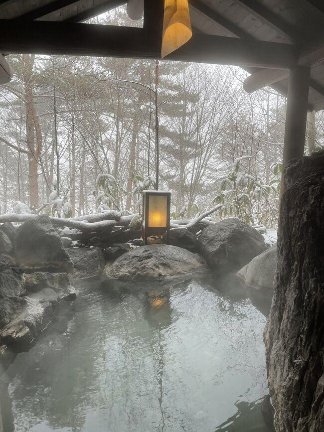 友人の誕生日祝いに草津温泉に行ってきました。Go to トラベルがあれば東京ディズニーシーホテルミラコスタに宿泊しよう!と行っていたのですが、緊急事態宣言のため、パークチケットすら購入できない状態。<br />お祝いのため有休で2連休をとっていたので、手頃な料金でいける近場の温泉旅行に行くことにしました。<br /><br />ギリギリまで行き先を悩んでいたのですが、無料の貸切風呂があり、夜ご飯に飲み放題がついているお宿木の葉に宿泊。緊急事態宣言のため、草津温泉はあまり開いているお店がなかったのですが、湯畑の近くの無料温泉(白旗の湯、千代の湯)や足湯に入ったり、ホテルの貸切温泉に入ったり、温泉三昧の旅行でした。<br /><br /><br />2日目<br />朝風呂<br />9:00 朝ごはん<br />大浴場<br />10:50 ホテルの貸切風呂 岩室<br />11:30 ホテルから湯畑までシャトルバス<br /><br />11:50 光泉寺<br />11:20 西の河原公園 無料の足湯<br />湯畑足湯<br />13:20 やすらぎ亭でお昼ご飯<br />14:00 白旗の湯<br /><br />14:40 草津温泉バスターミナル発車<br />15:02 上野原草津口駅到着<br /><br />15:43 上野原草津口駅 特急草津発車<br />18:09 上野駅到着<br />
