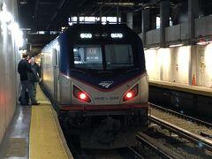 (3) ボストンからニューヨークへ Amtrakでの移動
