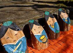 Japan 飯能市街のお雛様&名栗地区の丸太雛