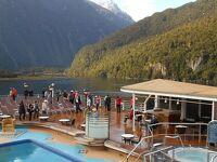 <4>(船内&NZ ミルフォードサウンド航行)『17日間 オセアニア(豪&NZ周遊)クルーズ旅行』で「35年ぶり・・再び!ハネムーンの地」へ