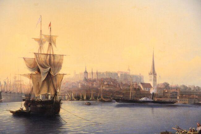 シニア夫婦2回目の北欧、バルト7カ国ゆっくり旅行25日 (14)ヘルシンキからタリンへ移動し美術館巡りです(10月2日)