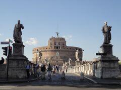 """初めてのローマ その15(イタリア・スペイン・ポルトガル・オランダ 12日間の旅 その4-15)街歩き⑬ 見応えあり、""""サンタンジェロ橋""""!"""