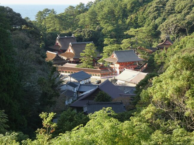 八雲立つ国への旅1日目。国鉄大社線は歴史の彼方、日御碕神社は山の中。