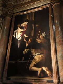"""初めてのローマ その22(イタリア・スペイン・ポルトガル・オランダ 12日間の旅 その4-22)""""サンタゴスティーノ教会""""のカラヴァッジョ!"""