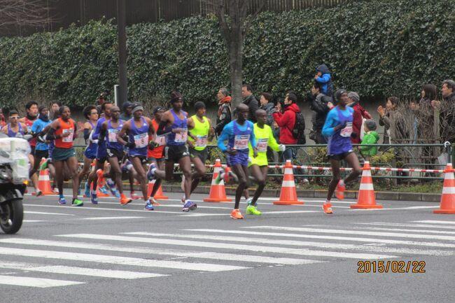 東京マラソン2015応援<br />私も2007年2010年と出場したが、今年は子供が出るというので沿道で応援。<br />途中、港区にある東禅寺を散策。