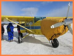 アラスカでオーロラ(3)北極圏と「アラスカ物語」のビーバー村へ遊覧飛行