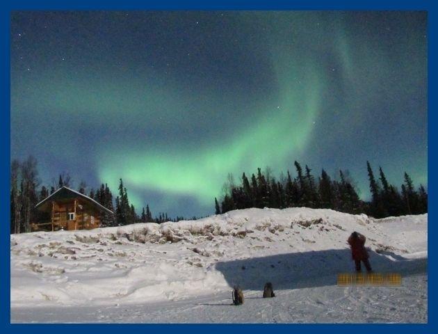 ★旅のアーカイブから★<br />去年に続いて今年もまた。ステイホームを求められているゴールデンウィーク。<br />嘆いてばかりもいられないので旅の備忘録を淡々と続けます。<br /><br />ずっと憧れていたアラスカでのオーロラ。<br />成田空港からのチャーター直行便で行くツアーに参加しました。<br />雪深い温泉リゾートに泊まったり、セスナで北極圏を訪ねたり、犬ぞり体験をしたり。<br />お目当てのオーロラは旅の終わりに近づくにつれ、大ブレーク!<br />心に残る素敵な旅でした。<br /><br />第5編)<br />昨夜に引き続いてこの夜もオーロラを見ることができました。<br />フェアバンクス市内のホテルから車で30~40分くら移動した山の上のロッジを基地としての観測です。<br />前日に比べて、もっとよく見えてきました。<br /><br />**********<br />旅行時期2013年3月<br />投稿日2021年5月4日