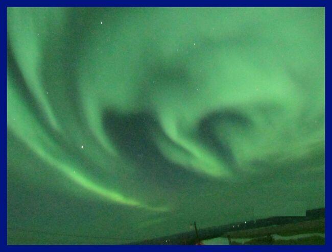 アラスカでオーロラ(6終)サンドッグ(幻日)とオーロラ・エピローグ
