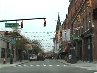 ミシガン州 デトロイト - 繁華街のグリークタウンやダウンタウン