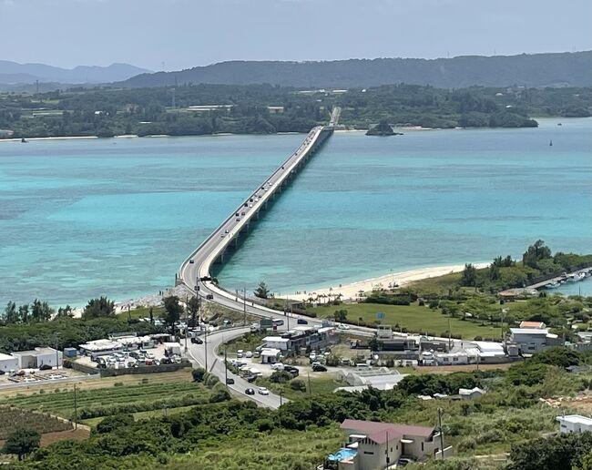 沖縄旅行2日目は、念願だった眞栄田岬の青の洞窟でダイビングと古宇利島を回る予定だったのが、青の洞窟が強風のため、立ち入り禁止になってしまい泣く泣くキャンセル。<br />古宇利島に行った後、帰り際に夕日を眞栄田岬で眺める計画を立てたが、沖縄名物の渋滞に巻き込まれることに。<br /><br />そんなこんなの2日目の滞在記となる。