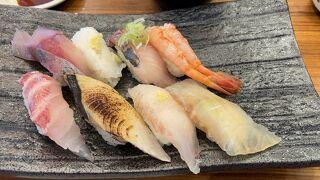 西海丸の回転寿司、千里浜からドライブ