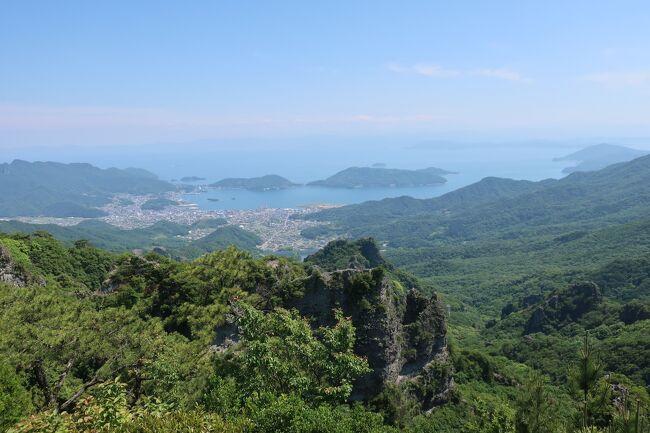 2021年5月28日(金)~31日(月)の3泊4日、高知県の旅に行ってきました。<br />初日は高松からフェリーで20分ほどの距離にある女木島に上陸。標高186.8メートルの鷲ヶ峰に登って鬼ヶ島大洞窟を探検します。<br />2日目は小豆島に渡ります。日本三大渓谷美のひとつに数えられる寒霞渓を歩いて登りました。<br />3日目は小豆島観光の続きと、高松にもどって屋島に登ります。<br />4日目は定番の金比羅宮に行って奥社まで階段を登りました。<br />毎日トレーニングみたいな旅行でしたが、素晴らしい景色を満喫することができました。