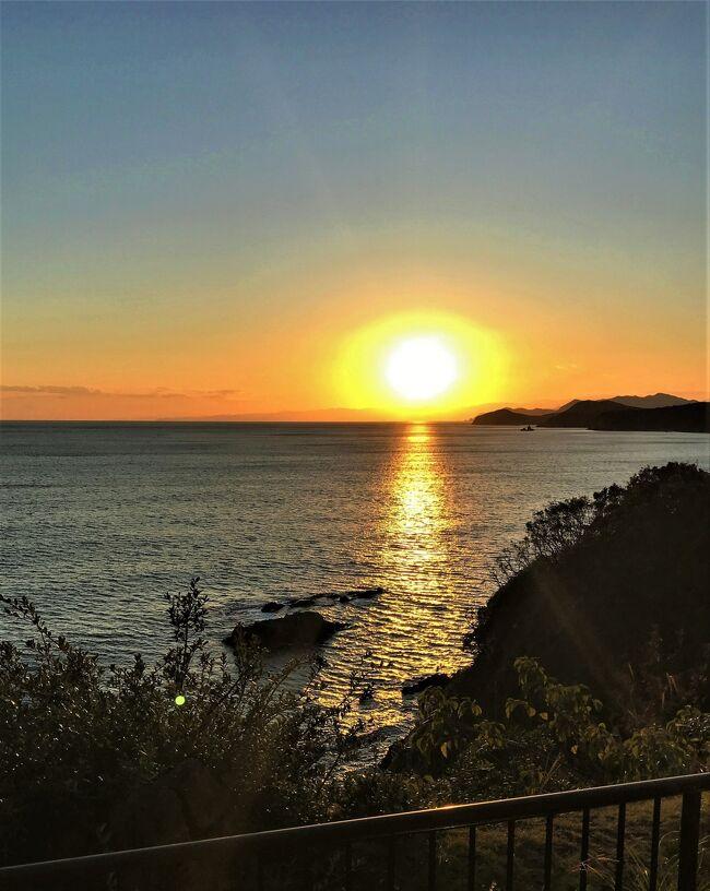 ☆日本夕陽百選浜島◇茜色の夕陽とサンロード!!