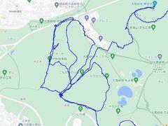 大高緑地。竹林散策路とこもれびの小径の地図を作りましょう。