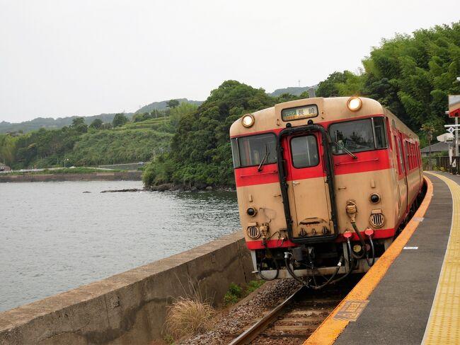 鉄旅は好きなものの、車種などはまったくわからないのですが…長年ガンバっていたキハ形車両が今月(2021年6月)末に引退するというので、JR大村線の千綿駅まで写真を撮りに行きました。
