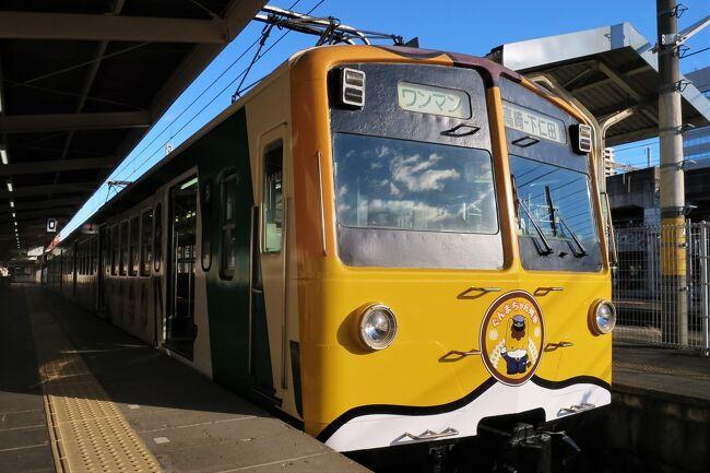 ご覧いただきありがとうございます。<br /><br />2021年・新春企画「秘境!路線バス乗り継ぎ旅」は、上信電鉄・下仁田駅(群馬県 甘楽郡)を起点に町営バス・村営バス・民営バスを乗り継いでゴールのJR高崎線・本庄駅(埼玉県本庄市)を目指す1泊2日の旅です。<br /><br />初日・前編では、この旅の起点となる上信電鉄・下仁田駅までの乗り鉄記と沿線グルメをご紹介いたします。<br /><br />※表紙…上信電鉄・高崎駅
