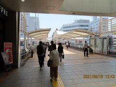 川越駅西口付近の風景