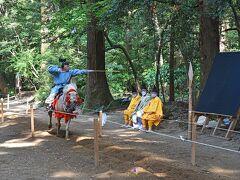 鹿島神宮の流鏑馬(やぶさめ)見物