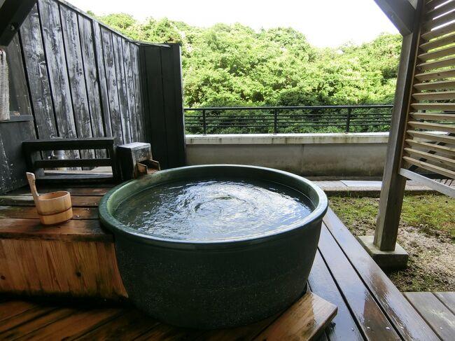 県内の温泉付きのお部屋に泊まってきました。