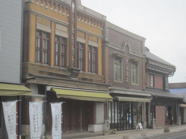 https://4travel.jp/travelogue/11699027<br />の後、少し足を延ばして石岡へ<br />石岡は江戸時代まで常陸府中と言われ、太古の昔は常陸国の中心、江戸時代も水戸藩の支藩の藩庁が置かれた街でした<br />昭和初めの看板建築の店舗も残るレトロな町です<br /><br />【表紙の写真】石岡中町通りのレトロ建築群