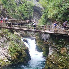 ヴィントガル渓谷の下流口から上流へ向かって遊歩道を散策