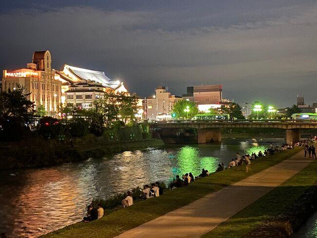 そうだ梅雨の京都って。。鴨川で等間隔の夕涼み♪いいよねぇ~(´▽`) 2日目午後 平等院&先斗町の納涼床へ Let's go!!