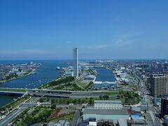 20210722-3 新潟 メディアシップってぇビルの展望階に上がって、新潟市を見渡す
