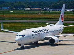 島根39 出雲縁結び空港 ターミナルビル-名所見て歩き ☆展望デッキ-JAL279便を出迎え