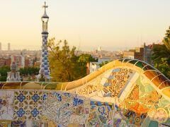初バルセロナ③早朝のグエル公園、サグラダファミリア、ブランチ、タパスにカタルーニャ音楽堂