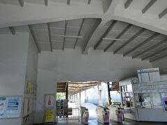 南海電車で。汐見橋駅から岸里玉出駅へ