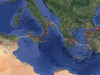 大昔の地中海横断? 1977年、アルジェリアからトルコまで