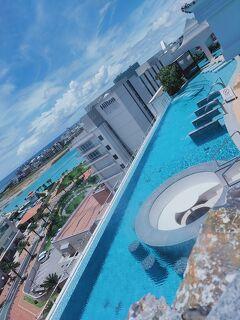 沖縄でインフィニティプールのホテルに泊まる「レクー沖縄北谷スパ&リゾートその3 プール」