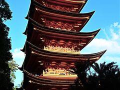 広島20 宮島-9 五重塔・千畳閣(神仏習合の名残り)☆山辺の古径・町屋通りを抜けて
