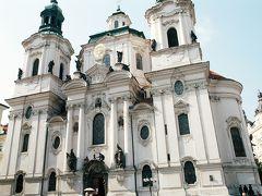 聖ミクラーシュ教会。プラハ・バロック様式。1756年完成。モーツアルトもここで演奏したとか。
