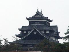 遊覧船から観た松江城天守閣