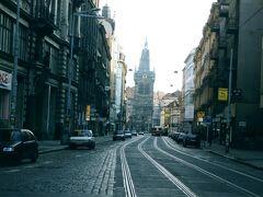 99年3月 プラハの旧市街。トラム(市内電車)が良く似合います